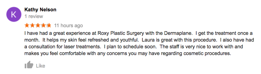 Dermaplane Roxy Plastic Surgery Columbus OH
