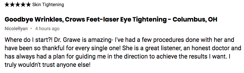 Real Self Review Laser Eye Treatment Roxy Plastic Surgery